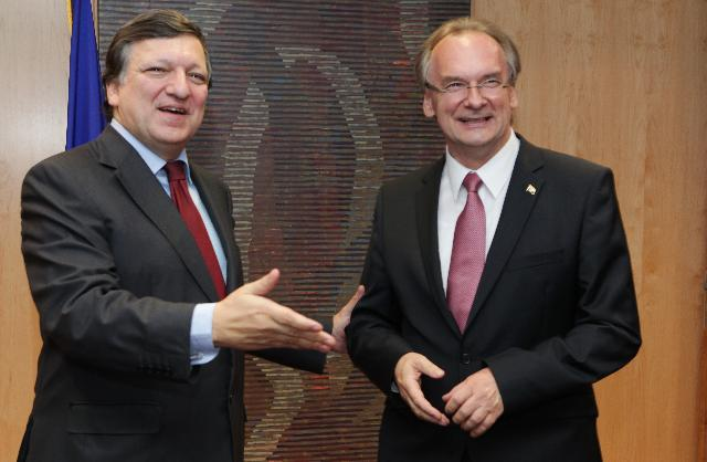 Visit of Reiner Haseloff, Minister-President of the Federal State of Saxony-Anhalt, to the EC