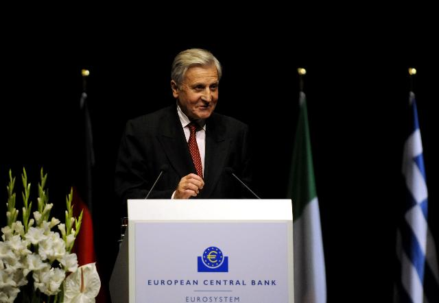 Participation of José Manuel Barroso, President of the EC, in the farewell ceremony for Jean-Claude Trichet, President of the ECB