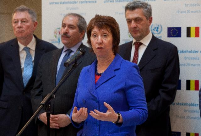 Participation of Catherine Ashton, Vice-President of the EC, in the UNWRA conference