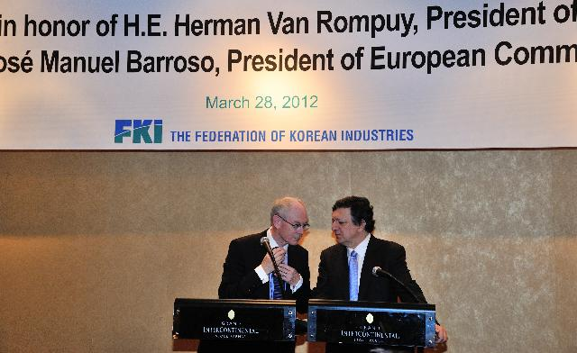 Sommet UE/Corée du Sud, 28/03/2012