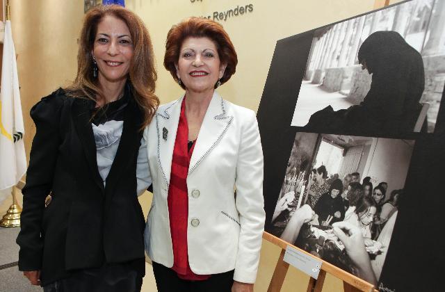 Vernissage de l'exposition photo Cyprus, moments in time avec la participation d'Androulla Vassiliou, membre de la CE