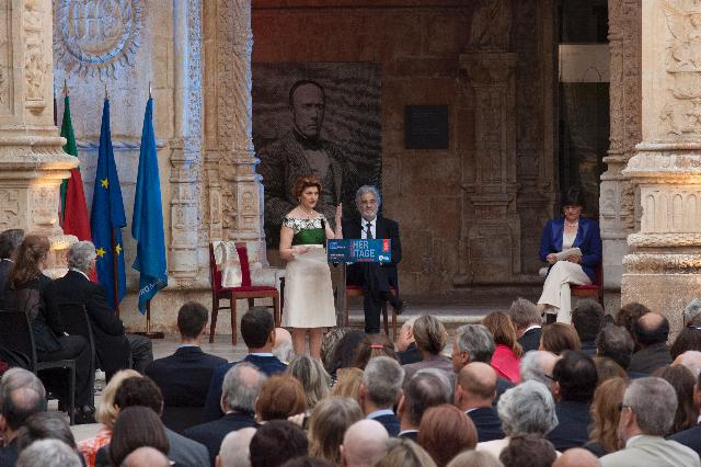 Participation of Androulla Vassiliou, Member of the EC, at the ceremony organised in Lisbon, unveiling the names of the six 'Grand Prix' laureates in the 2012 European Union Prize for Cultural Heritage / Europa Nostra Awards