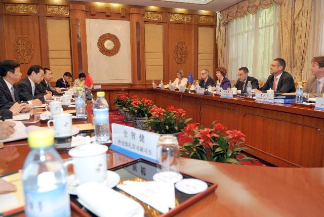 Visite de Catherine Ashton, vice-présidente de la CE, en Chine