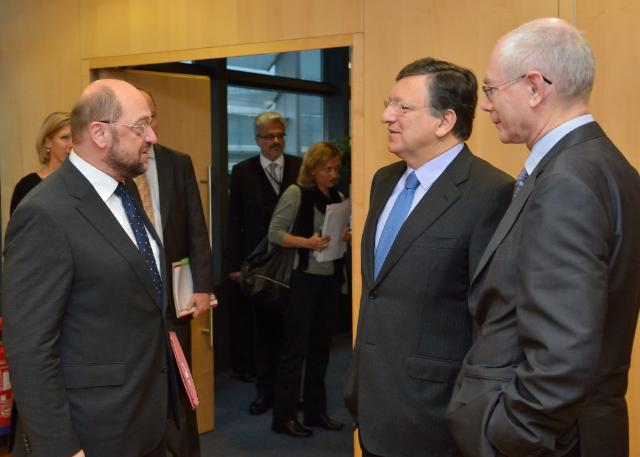 Visit of Herman van Rompuy, President of the European Council, Martin Schulz, President of the EP, and Demetris Christofias, President of Cyprus, to the EC