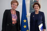 Visite de Daria Nałęcz, sous-secrétaire d'État polonaise au ministère des Sciences et de l'Enseignement supérieur, à la CE