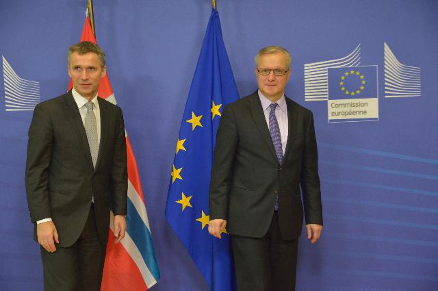 Visit of Jens Stoltenberg, Norwegian Prime Minister, to the EC