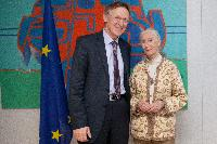 Visit to the EC of Jane Goodall, Founder of the Jane Goodall Institute, UN Messenger of Peace in 2002