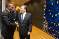 Visite d'Hailemariam Desalegn, Premier ministre éthiopien, à la CE
