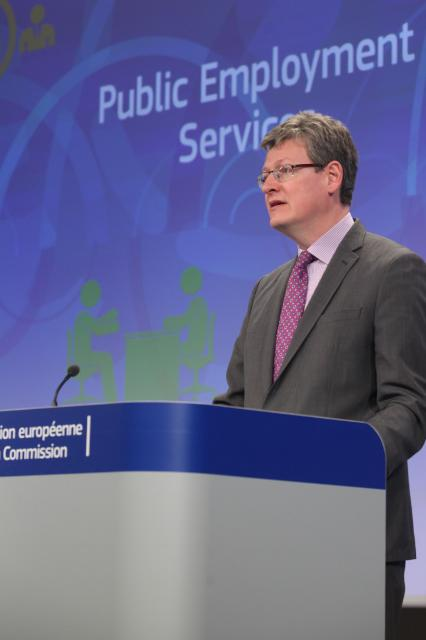 Press conference by László Andor, Member of the EC, on the implementation of a network of public employment services to boost job creation