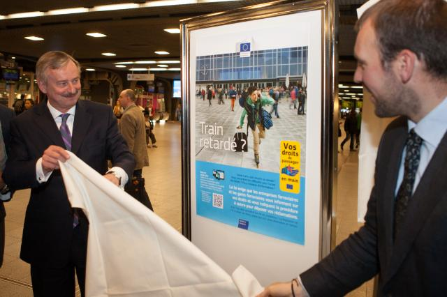 Launch of the new 2013 information campaign on passenger rights campaign at the Brussels Midi Station