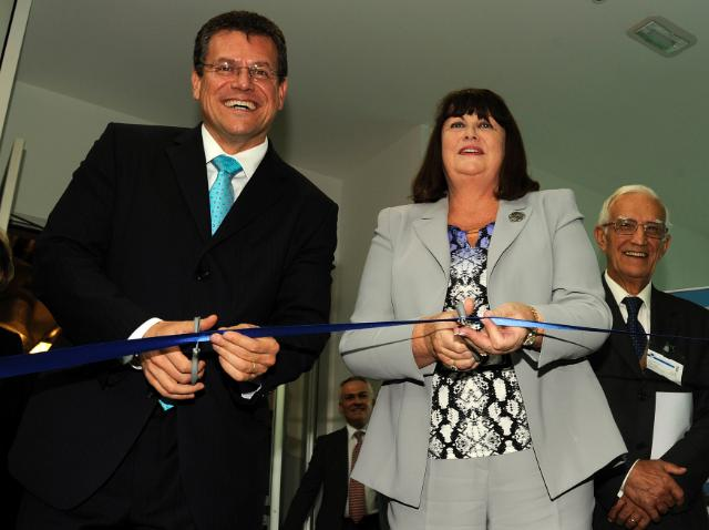 Inauguration by Maroš Šefčovič, Vice-President of the EC, and Máire Geoghegan-Quinn, Member of the EC, of two new science buildings of the JRC