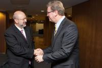Visite de Lamberto Zannier, secrétaire général de l'OSCE, à la CE