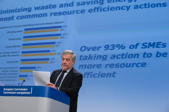 Press conference by Antonio Tajani, Vice-President of the EC, on the 2013 Eurobarometer survey on SMEs, resource efficiency and green markets