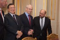 Présentation des voeux de nouvel an de la Commission Barroso II à Philippe, roi des Belges