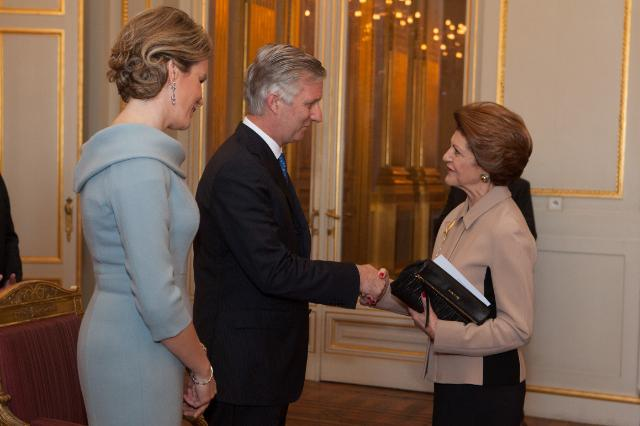 Presentation of New Year's greetings of the Barroso II Commission to Philippe, King of the Belgians