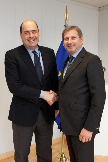 Visit of Nicola Zingaretti, President of the Region of Lazio, to the EC