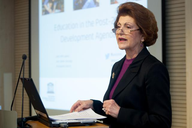 Participation of Androulla Vassiliou, Member of the EC, at the high-level discussion on 'Education in the Post-2015 Development Agenda', organised by the Unesco