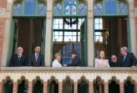 Participation of Viviane Reding, Vice-President of the EC, in the official inauguration of the Art Nouveau side of the Hospital de Sant Pau