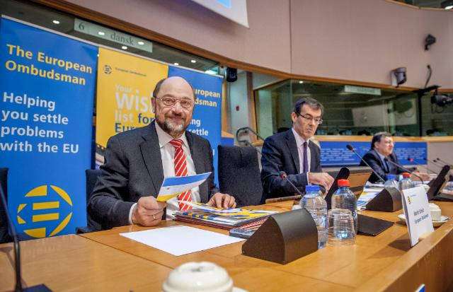 Participation of José Manuel Barroso, President of the EC, Emily O'Reilly, European Ombudsman, and Martin Schulz, President of the EP, in the European Ombudsman's Interactive event 'Your wish list for Europe'