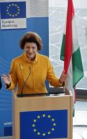 Visit of Androulla Vassiliou, Member of the EC, to Budapest for the launch of the Erasmus+ programme
