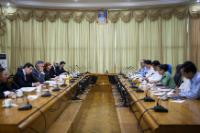 Meeting at the Ministry for National Planning and Economic Development
