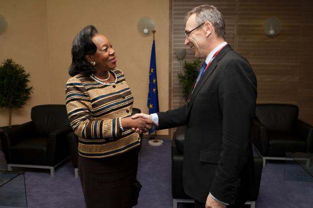Visit of Catherine Samba-Panza, President ad interim of the Central African Republic, to the EC