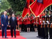 "Illustration of ""Visit of José Manuel Barroso, President of the EC, to Albania"""