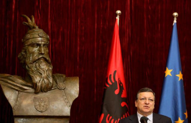 Visite de José Manuel Barroso, président de la CE, en Albanie