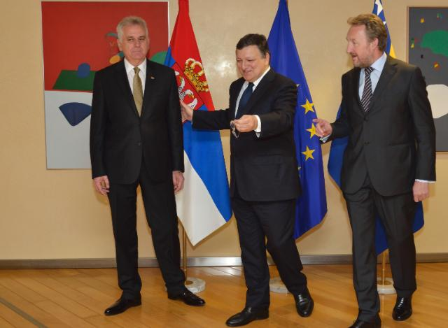 Visit of Tomislav Nikolić, President of Serbia, and Bakir Izetbegović, Chairman of the Presidency of Bosnia and Herzegovina, to the EC