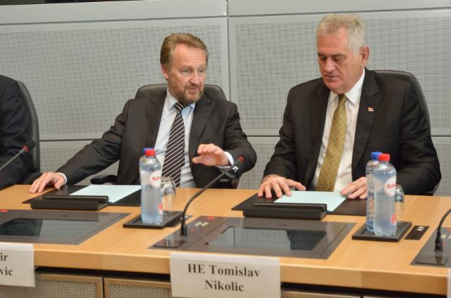 Visite de Tomislav Nikolić, président de la Serbie, et Bakir Izetbegović, président de la présidence collégiale de la Bosnie-Herzégovine, à la CE