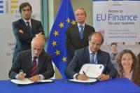 "Illustration of ""Signature ceremony of the agreement between the EIF and EC to boost funding opportunities for SMEs in the..."