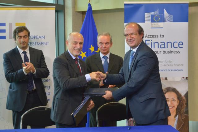 Signature ceremony of the agreement between the EIF and EC to boost funding opportunities for SMEs in the framework of the COSME programme