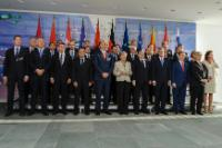 Group photo, from left to right, in the presence of, in the 1st row: Aleksandar Vučić, Serbian Prime Minister, Milo Đukanović, Montenegrin Prime Minister, Zoran Milanović, Croatian Prime Minister, Vjekoslav Bevanda, Chairman of the Council of Ministers of Bosnia and Herzegovina, Edi Rama, Angela Merkel, José Manuel Barroso, Hashim Thaçi, Kosovan Prime Minister, Nikola Gruevski, Prime Minister of the former Yugoslav Republic of Macedonia, Werner Faymann, Austrian Federal Chancellor, and Alenka Bratušek, Slovenian Prime Minister