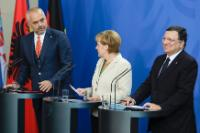 Edi Rama, Angela Merkel and José Manuel Barroso (from left to right)