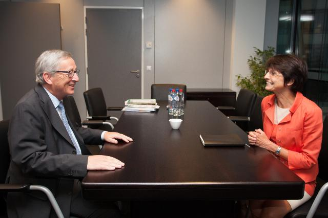 Meeting between Marianne Thyssen, Member of the EP, and Jean-Claude Juncker, President-elect of the EC