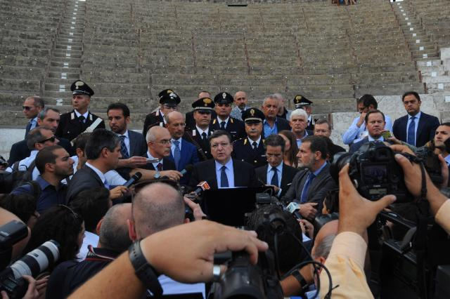 Visit of José Manuel Barroso, President of the EC, to Naples