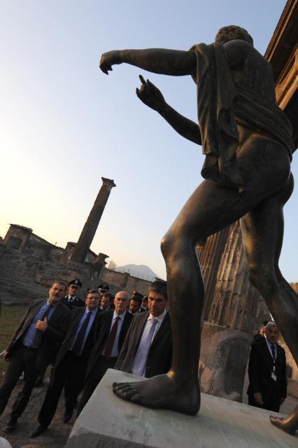 Visite de José Manuel Barroso, président de la CE, à Naples