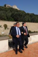 """Illustration of """"Visite de José Manuel Barroso, président de la CE, à Naples"""""""