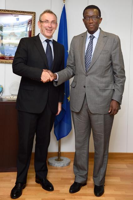 Visite d'Amadou Ba, ministre sénégalais de l'Economie et des Finances, à la CE