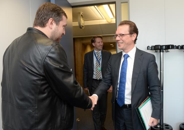 Visite d'Antanas Guoga, membre du PE, à la CE