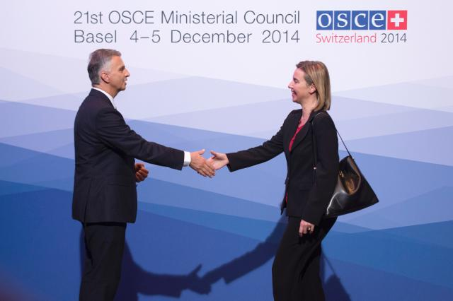 Visit of Federica Mogherini, Vice-President of the EC, to Switzerland
