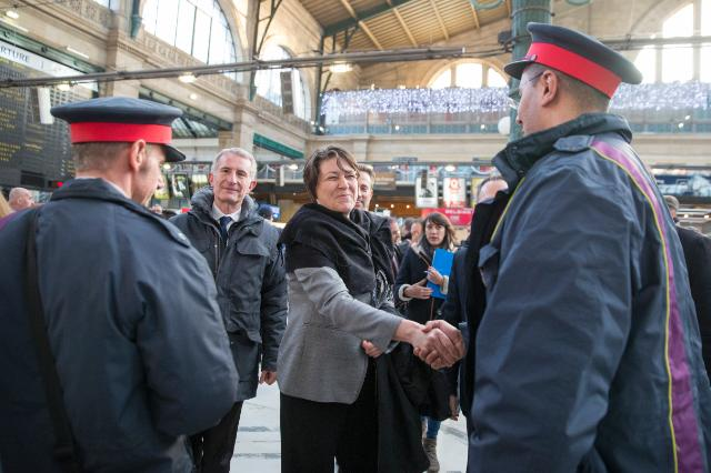Visit of the Paris Nord Train Station by Violeta Bulc, Member of the EC