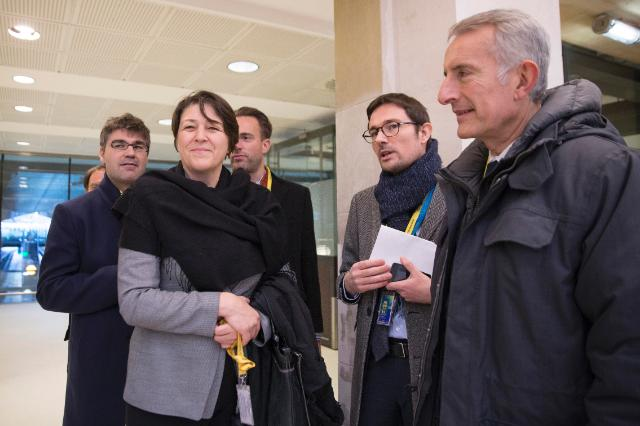 Visit of the Paris Nord Train Station by Violeta Bulc, Member of the EC