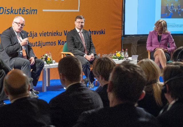 Citizens' Dialogue in Riga with Frans Timmermans, Valdis Dombrovskis and Corina Creţu