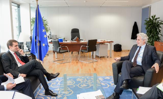 Visite de Kostiantyn Yelisieiev, chef de la mission de l'Ukraine auprès de l'UE, à la CE