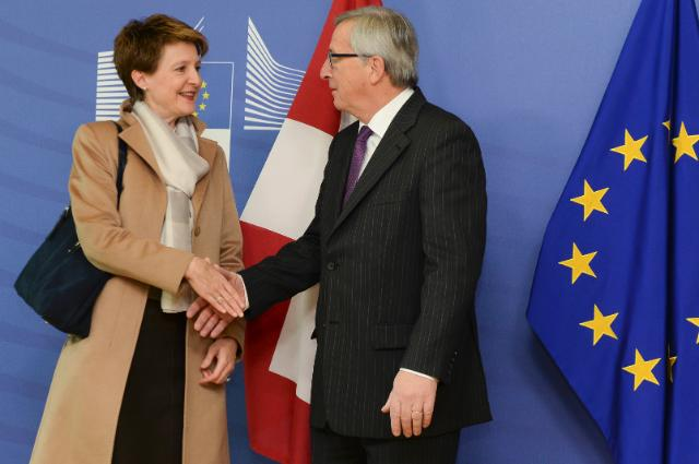 Visit of Simonetta Sommaruga, President of the Swiss Confederation, to the EC