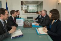 Visit of Emmanuel Macron, French Minister for Economy, Industry and Digital Sector, to the EC