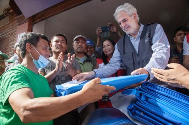 Visite de Christos Stylianides, membre de la CE, au Népal