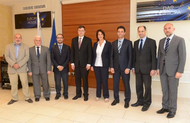 Visit of Valdis Dombrovskis, Vice-President of the EC, to Malta