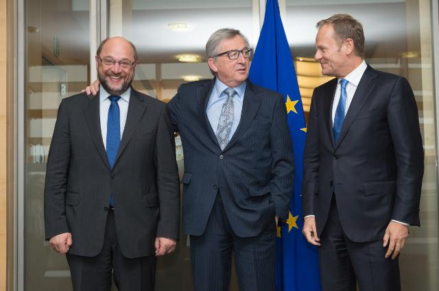 Visit of Donald Tusk, President of the European Council, and Martin Schulz, President of the EP, to the EC
